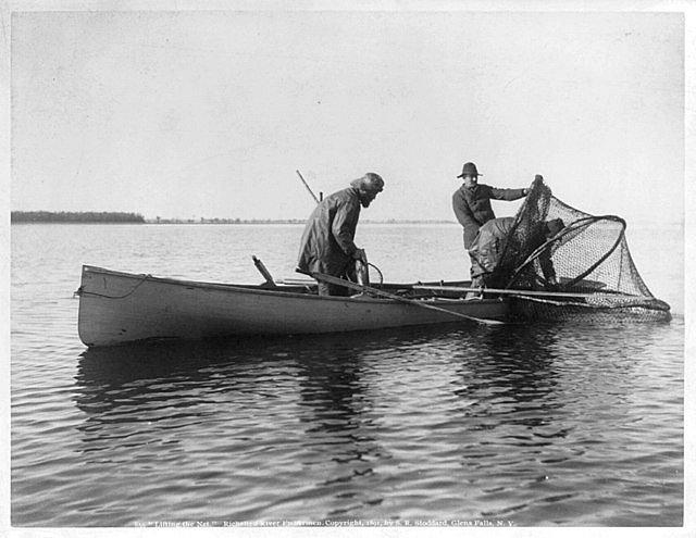 Rybáři na řece Richelieu, rok 1891