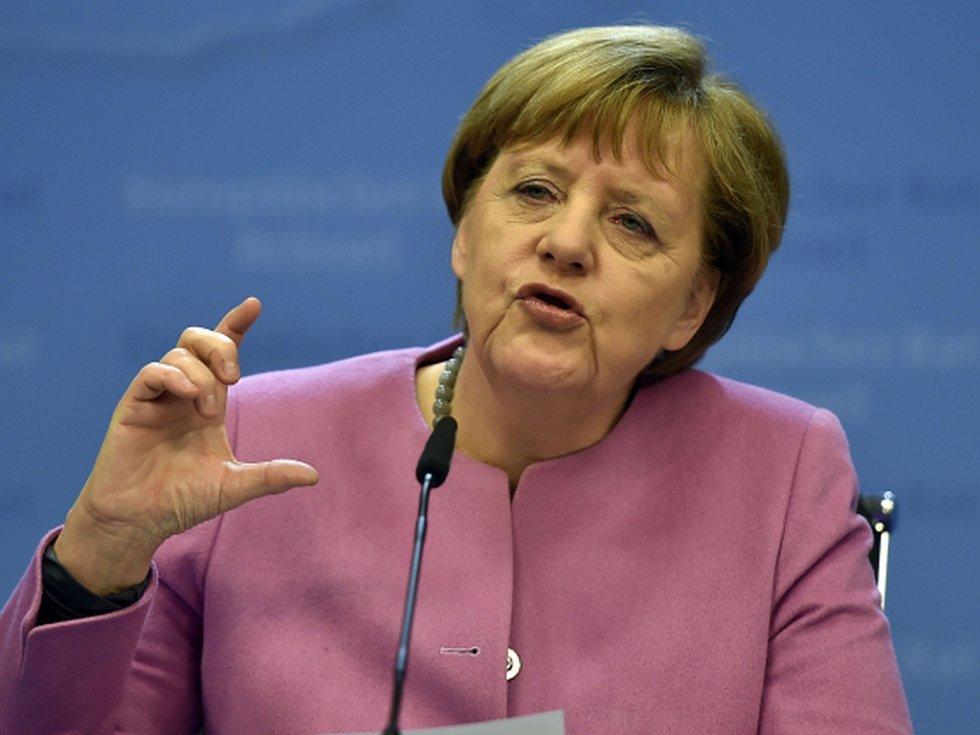 Německá kancléřka Angela Merkelová v roce 2016.