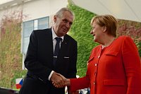 Miloš Zeman a německá kancléřka Angela Merkelová