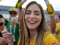 Brazilská fanynka. Fotbalové MS Rusko 2018