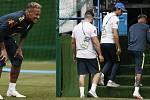 Neymar odkulhal z tréninku Brazílie