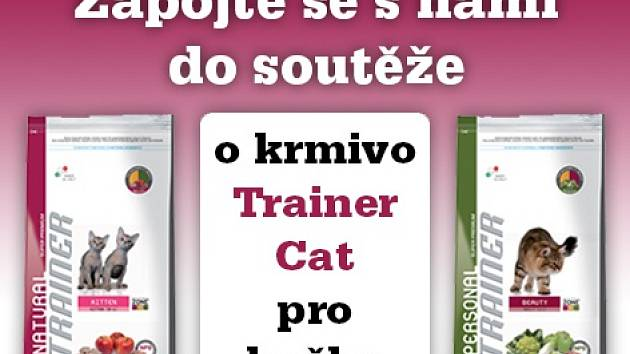 Zapojte se s námi do soutěže o 6 balíčků Prémiového krmiva TRAINER CAT.
