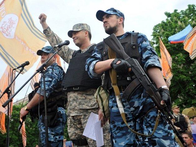 """Luhanský """"lidový gubernátor""""  Valery Bolotov."""