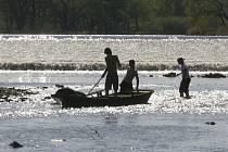 Současné teplé a suché počasí netěší vodáky, průtoky na českých a moravských řekách se dostávají k minimu.