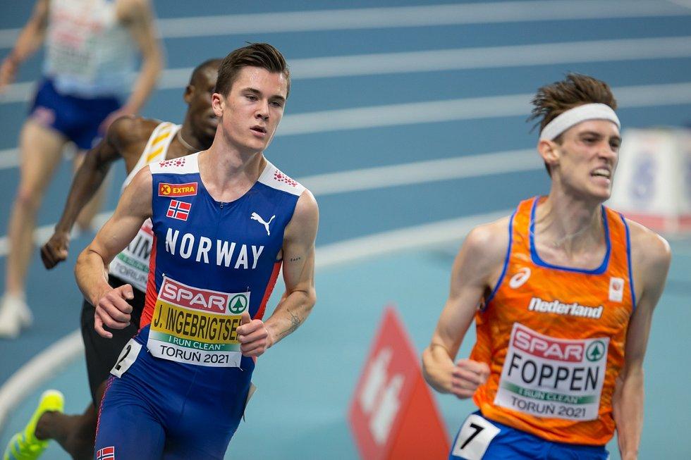 Hvězdný Nor. Jakob Ingebrigtsen předvedl zlatý double na tratích 1500 a 3000 metrů.