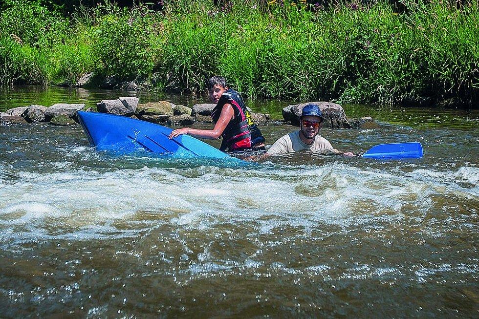 Nejnáročnější část řeky Jizery začíná vSemilech akončí vPodspálově.