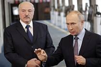 Alexandr Lukašenko a Vladimir Putin na jednání v Soči