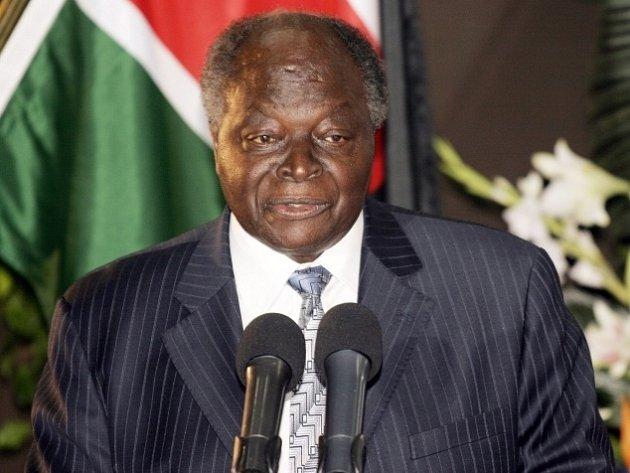 Keňský prezident Mwai Kibaki