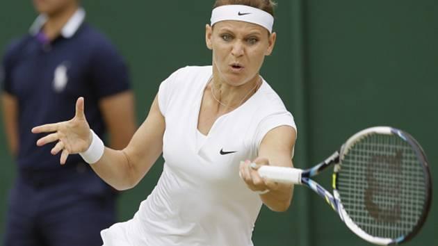 Lucie Šafářová na Wimbledonu.