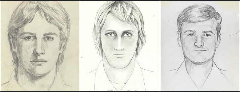 Tři identikity pachatele množství znásilnění, na které se zaměřila FBI, když byly případy po letech znovu prověřovány. Všechny činy spáchal Joseph James DeAngelo.