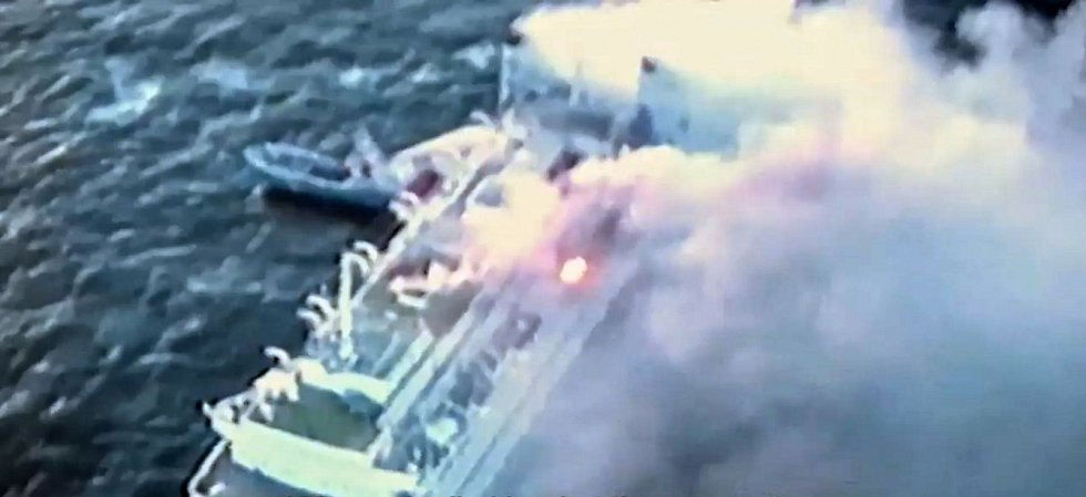 Autentické záběry hořící lodi Scandinavian Star