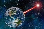 Laserový paprsek ze Země - Ilustrační foto