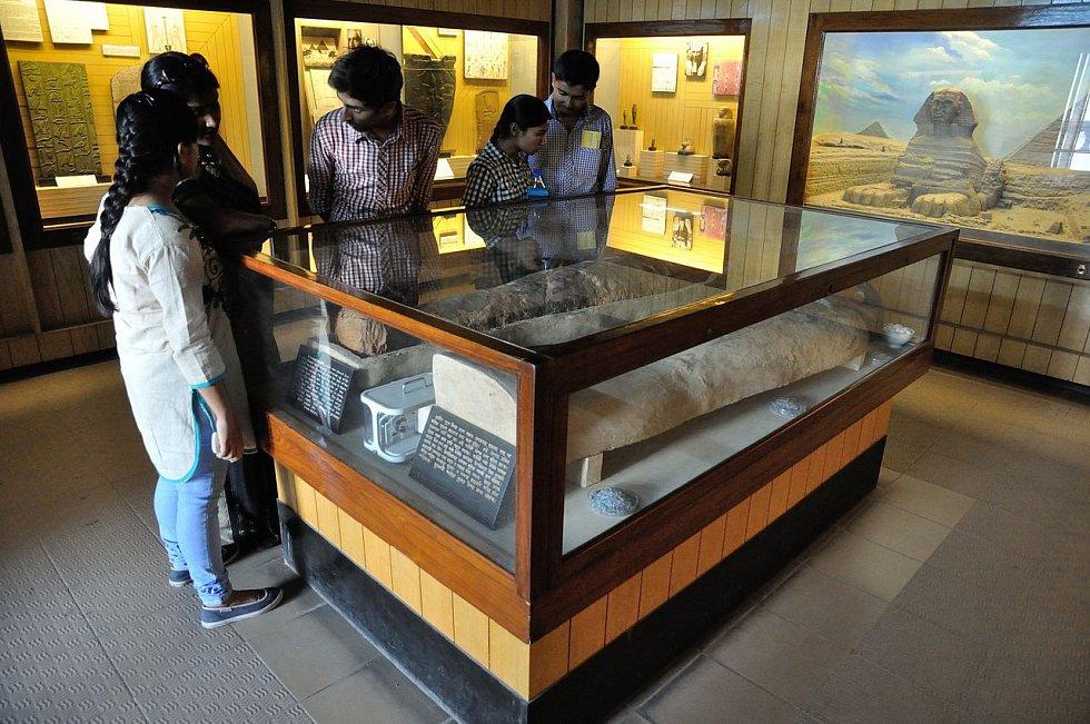 Expozice v indické Kolkatě.
