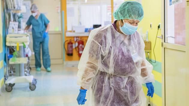 Covidové odělení nemocnice v Příbrami
