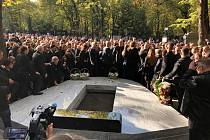 Pohřeb Jana Kočky mladšího na Olšanských hřbitovech