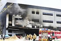 Požár na staveništi v jihokorejském městě Ičchon