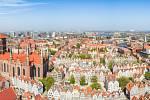 Gdaňsk, pohled na město.
