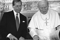 Václav Havel s Janem Pavlem II