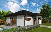 Rodinný dům AHAUS 1, bungalov, zastavěná plocha 90 m2, užitná plocha 76 m2