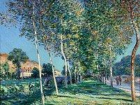 Jedno z ukradených děl: Topolová alej od Alfreda Sisleyho.