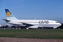 Boeing 737-204C aerolinek LAPA na letišti Jorgeho Newberyho v Buenos Aires, kde 31. srpna 1999 toto letadlo havarovalo