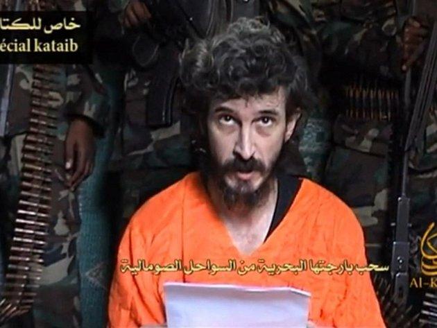 """Somálští islamisté z hnutí Šabáb dnes oznámili, že """"popravili"""" zajatého Francouze Denise Allexe."""