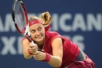 Petra Kvitová v semifinále turnaje v New Havenu.