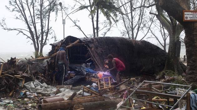 Cyklon Pam přinesl na Vanuatu zkázu a smrt.