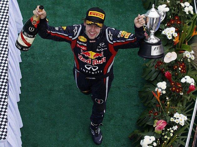 Sebastian Vettel triumfoval v GP Malajsie.