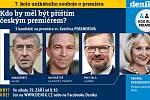 Závěrečná debata Deníku. Kdo by měl být příštím premiérem?
