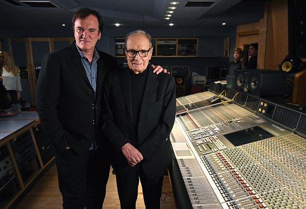 Quentin Tarantino a Ennio Morricone ve studiu Abbey Road.