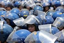 Příslušníci filipínské policie. Ilustrační snímek