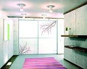 Velmi elegantně působí i skříň na míru s potištěnými skly. Potisk může ladit s ostatními dekorativními detaily interiéru.