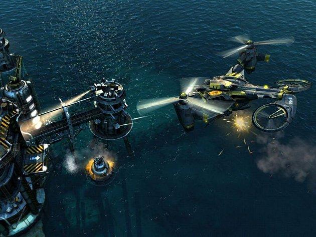 Počítačová hra Oil Rush: Přepadení v Pacifiku.