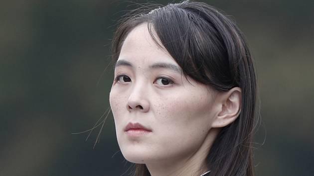Kim Jo-čong, sestra severokorejského vůdce Kim Čong-una, na snímku z 2. března 2019