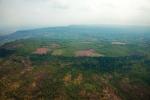 Letecký pohled na sráz a pohoří Phnom Kulen.