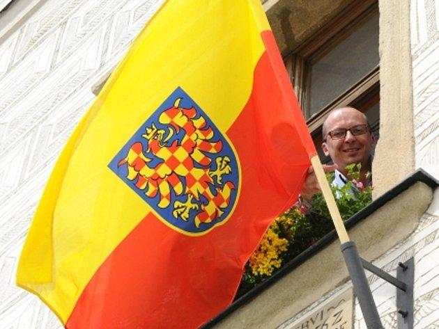 Už tradičně se pátého července vyvěšují na úřadech nejen moravských obcí a měst vlajky symbolizující Moravu.