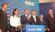 Tisková konference po úspěšných volbách pro ODS