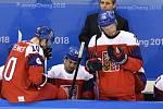 Zklamaní čeští hokejisté pro prohraném semifinále s Ruskem na olympijských hrách v Pchjongčchangu.