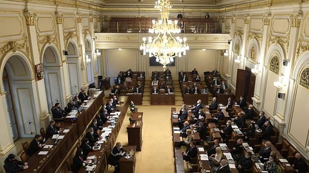 Schůze poslanecké sněmovny. Ilustrační snímek