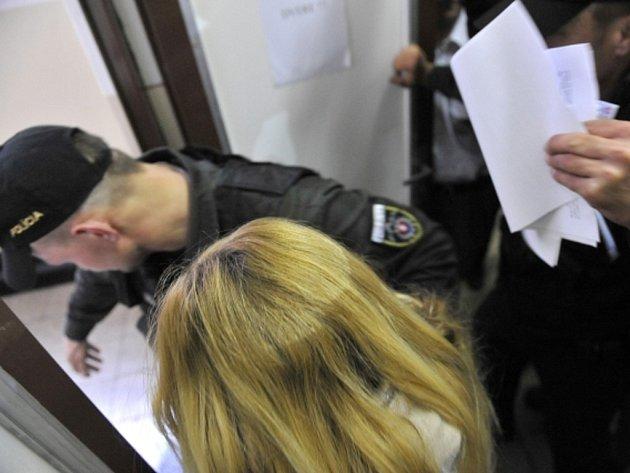 Mária Kukučová před Krajským soudem v Trenčíně, která byla na základě evropského zatykače zadržena ve vlasti v souvislosti s vraždou britského podnikatele v Španělsku.