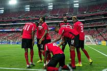 Radost fotbalistů Trinidadu a Tobaga