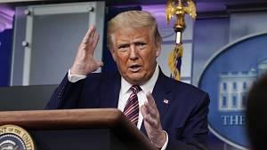 Americký prezident Donald Trump na tiskové konferenci v Bílém domě 27. září 2020