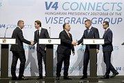 Schůzka V4 a rakouského kancléře Sebastiana Kurze v Budapešti.