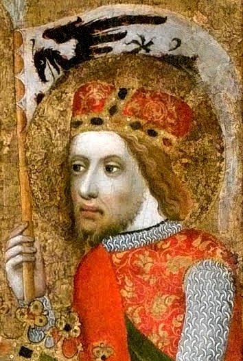 Svatý Václav na votivním obraze Jana Očka z Vlašimi