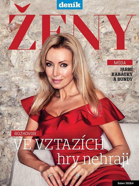 Kateřina Brožová na obálce magazínu Ženy
