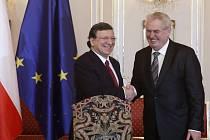 José Manuel Barroso a Miloš Zeman