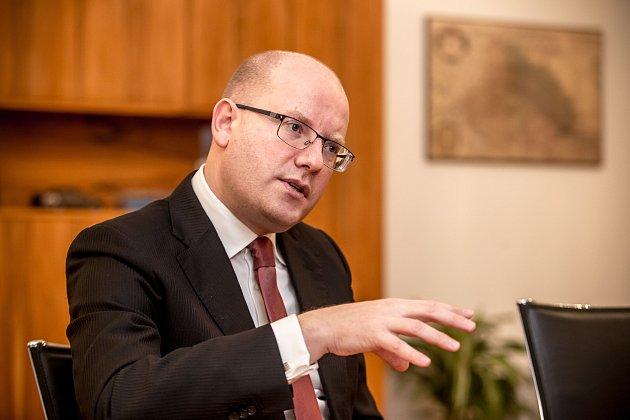 Premiér Bohuslav Sobotka poskytl rozhovor Deníku