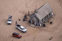 Bonanza Creek Ranch, kde se natáčí film Rust. Herec Alec Baldwin během filmování zastřelil 22. října 2021 kameramanku a zranil režiséra.