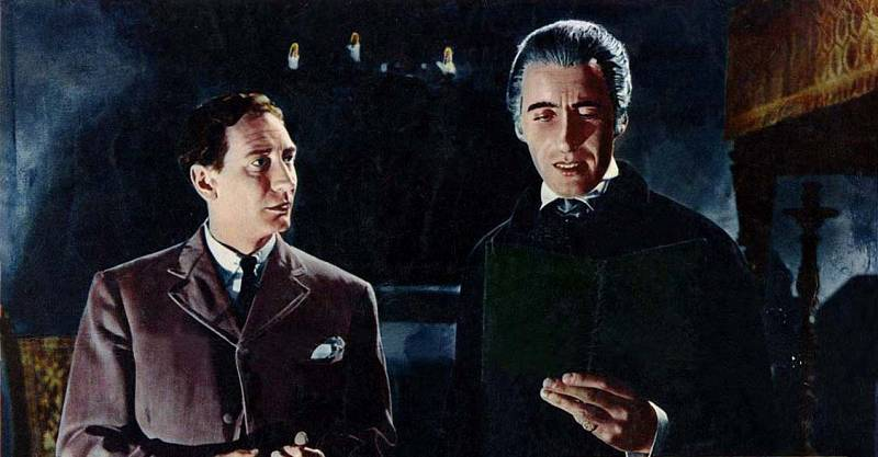 Christopher Lee si zahrál krvežíznivého hraběte například v roce 1958 ve filmu Dracula. A pak ještě mnohokrát